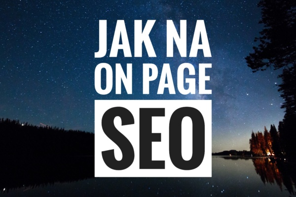 on page seo tutoriál